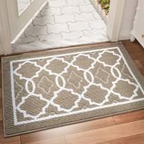 """DEXI Indoor Door Mat Large, 59""""x36"""" Non-Slip Low-Profile Entrance Rug, Absorbent Machine Washable Front Doormats for Back Door, High Traffic Areas, Brown"""