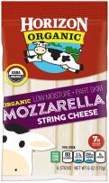 Horizon Organic String Cheese, Mozzarella, 6 Ounce, Individually Packaged Mozzarella String Cheese with Protein and Calcium, Great for Snacks for Kids or Grown-Ups