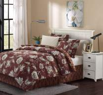 Brown & Grey Joanna Bed-in-Bag Set, King, Brick