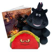 Sparkle Toots The Evil Tooting Unicorn Box Set - Includes Talking Shadow Toots Unicorn Stuffed Animal, Exclusive Talking Taco Plush & Coloring Book