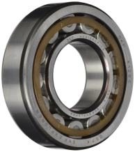 SKF NU 203 ECP/C3 Cylindrical Roller Bearing, Single Row, Removable Inner Ring, Straight Bore, High Capacity, C3 Clearance, Polyamide/Nylon Cage, Metric, 17mm Bore, 40mm OD, 12mm Width