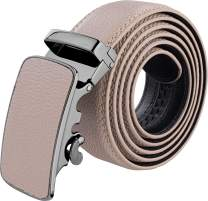 Silky Toes Men's Belt Ratchet Leather Dress Belt with Automatic Buckle