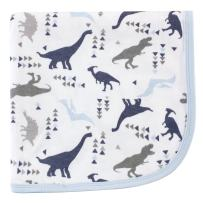 Touched by Nature Unisex Baby Organic Cotton Swaddle, Receiving and Multi-purpose Blanket, Dino, One Size