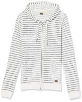 Roxy Women's Trippin Stripes Zip Up Fleece Sweatshirt