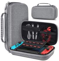 Carrying Case for Nintendo Switch, Carry Game Case Work with Nintendo Switch Protective Case, Portable Switch Carrying Case for Nintendo Switch Console - Grey