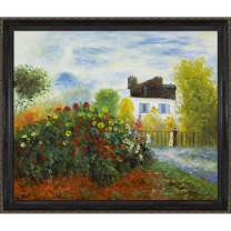 overstockArt The Artist's Garden Framed Oil Reproduction of an Original Painting by Claude Monet