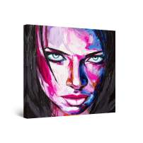 Startonight Canvas Wall Art Abstract Painting - Eva Woman, Seductive Painted Face 32 x 32 inches