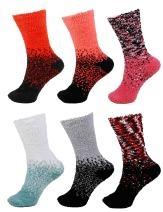 6 Pairs Colorful Fuzzy Socks - Assorted Super Soft Warm Microfiber Comfy Home Socks - Value Pack
