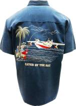 Bamboo Cay Men's Catch of The Day Casual Embroidered Button Down Mens Shirt
