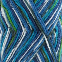 BambooMN Brand - Dancing Feet Yarn for Stripe Pattern Garments 50g/Skein - Beachside Blue - 2 Skeins