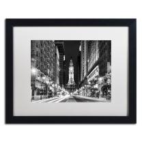 City Hall Philadelphia by Philippe Hugonnard, White Matte, Black Frame 16x20-Inch