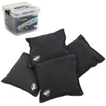 """Triumph Black Canvas Cornhole Bags – 4 Bags Included, Size 6"""" x 6"""" 16 oz"""