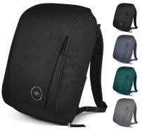 Simple Modern Wanderer Backpack with Laptop Compartment Sleeve - 25L Travel Bag for Men & Women College Work School: Midnight Black