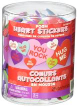 amscan Valentine's Day Foam Craft Hearts, 285 Ct. | Party Accessory