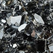 Steel Blue - Fire Glass for Indoor and Outdoor Fire Pits or Fireplaces   10 Pounds   1/4 Inch, Reflective