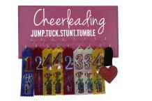 Running On The Wall Cheerleadin Medal Holder - Cheerleading - Jump.Tuck.Stunt.Tumble - Gift for Cheerleader - Cheerleading Accessories - Awards & Ribbons Display
