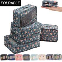 Allfourior Travel Packing Cubes -4/5 Set Compression Package Luggage Organizer