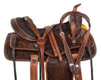 "Acerugs 14"" 15"" 16"" 17"" 18"" Classic Premium Western Leather Trail Horse Saddle TACK Set"