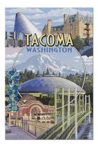 Tacoma, Washington - Montage Scenes (Premium 1000 Piece Jigsaw Puzzle for Adults, 20x30, Made in USA!)