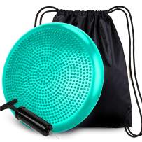 RFAQK Wobble Cushion with Pump & Backpack Cover - Extra Thick Flexible Seating Balance Disc & Wiggle Seat for Improving Posture, core, Stability for Sensory Kids in Classroom, Workout & Office Chair