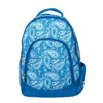 Class Collections Reinforced and Water Resistant Padded Laptop School Backpack (Vintage Blue Paisley)