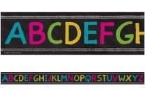 Teacher Created Resources Chalkboard Brights Alphabet Straight Border Trim 3477