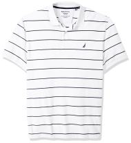 Nautica Men's Big and Tall Classic Short Sleeve Striped Polo Shirt