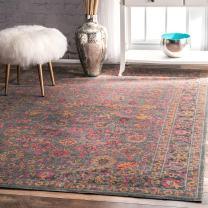 nuLOOM Isela Vintage Persian Area Rug, 8' x 10', Grey