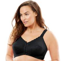 Comfort Choice Women's Plus Size Lace Wireless Posture Bra