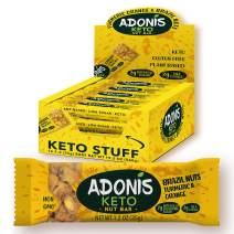 Adonis Keto Bar | Turmeric Snack Bars with Brazil Nut | 100% Natural Snacks, Low Carb, Vegan, Gluten Free, Low Sugar, Paleo