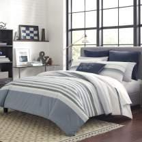 Nautica Lansier Grey Tw/Twxl Cotton Comforter-Sham Set