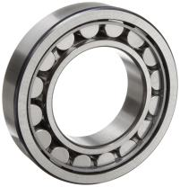 SKF NJ 215 ECJ Cylindrical Roller Bearing, Removable Inner Ring, Flanged, High Capacity, Steel Cage, Metric, 75mm Bore, 130mm OD, 25mm Width, 5300rpm Maximum Rotational Speed, 35100lbf Static Load Capacity, 29200lbf Dynamic Load Capacity