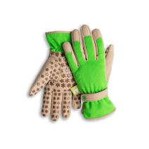 Dig It Gardening Gloves with Fingertip Pillow-top Protection for All Types of Gardening Chores and Other DIY Activities (Green/Tan, Large)