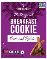 Erin Baker's Breakfast Cookies, Oatmeal Raisin, 4 Count (Pack of 12)