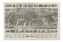 Hoboken, New Jersey - (1904) - Panoramic Map (Premium 1000 Piece Jigsaw Puzzle for Adults, 20x30, Made in USA!)