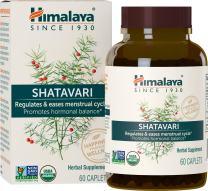 Himalaya Organic Shatavari, Equivalent to 3,623 mg of Shatavari for Menstrual Regulation and Hormonal Balance, 1,300 mg, 1 Month Supply, 60 Caplets