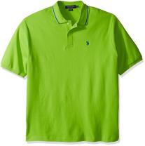 U.S. Polo Assn. Men's Big and Tall Big & Tall Slim Fit Short Sleeve Solid Interlock Polo Shirt