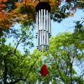 RENOOK 27 Tubes Handmade Wind Chimes - Indoor Outdoor Soothing Melodic Tones, Windows Yard Decor, Amazing Chimes, Memorial Wind Chimes, Mom's Best Gifts, Keep for Your own Patio Porch Garden Backyard