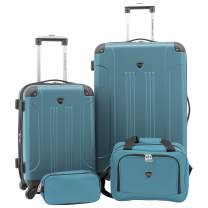Travelers Club Sky+ Luggage Set, Navy Blue, 4 Piece