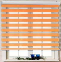 Foiresoft Custom Cut to Size, [Winsharp Basic, Sandy_Brown, W 67 x H 47 inch] Zebra Roller Blinds, Dual Layer Shades, Sheer or Privacy Light Control, Day and Night Window Drapes, 20 to 110 inch Wide