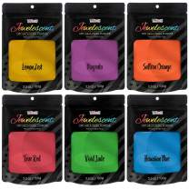 U.S. Art Supply Jewelescent Ultra Bright 6 Color Mica Pearl Powder Pigment Set Kit, 3.5 oz (100g) Sealed Pouches - Cosmetic Grade, Non-Toxic Metallic Dye - Paint, Epoxy, Resin, Soap, Slime Making, Art