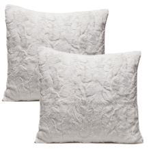 Chanasya Super Soft Fuzzy Faux Fur Cozy Warm Fluffy White Fur Throw Pillow Cover Pillow Sham - White Pillow Sham 18x18 Inches(Pillow Insert Not Included) Waivy Fur Pattern 2-Pack