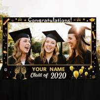 Personalize Graduation Photo Booth Props Frame 2020 Party Supplies Decorations Favors (Assembly Needed)