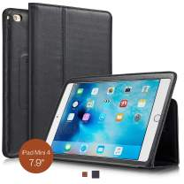 KAVAJ iPad Mini 4 Leather case Cover Berlin Black - Genuine Leather with Stand-up Feature. Thin Smart Cover as Premium Accessory for The Original Apple iPad Mini 4
