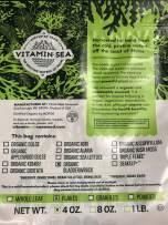 VitaminSea Organic Bladderwrack Flakes Seaweed - 4 oz / 112 G Atlantic Maine Coast - USDA and Vegan Certified - Kosher - Perfect For Keto or Paleo Diets - Sun Dried - Raw - Wild Sea Vegetables (BF4)