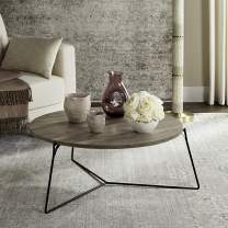 Safavieh Home Collection Mae Modern Light Brown Round Coffee Table