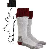 Turtle Fur Lectra Sox Wader Socks, Electric Battery Heated Socks, Maroon