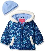 London Fog Baby Girls Puffer Jacket with Hat