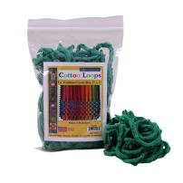 """Friendly Loom Potholder Cotton Loops 7"""" Traditional Size Loops Make 2 Potholders, Weaving Crafts for Kids and Adults-Green by Harrisville Designs"""