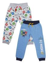 PJ Masks Boys Joggers 2 Pack Set - Infant Toddler Sweatpants Featuring Catboy, Gekko, and Owlette Sky Blue, White